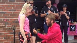 'He ran 1500km to propose to me'