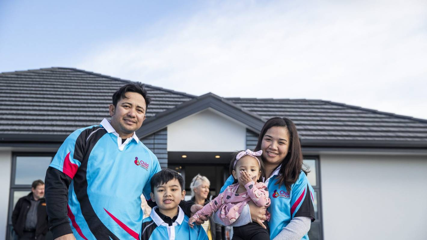 Proceeds from new-build auction to help children through their cancer battle