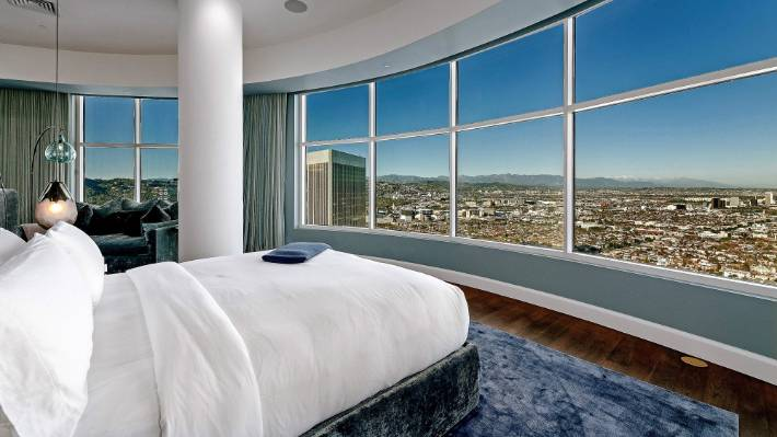 The Century City penthouse includes four bedrooms.
