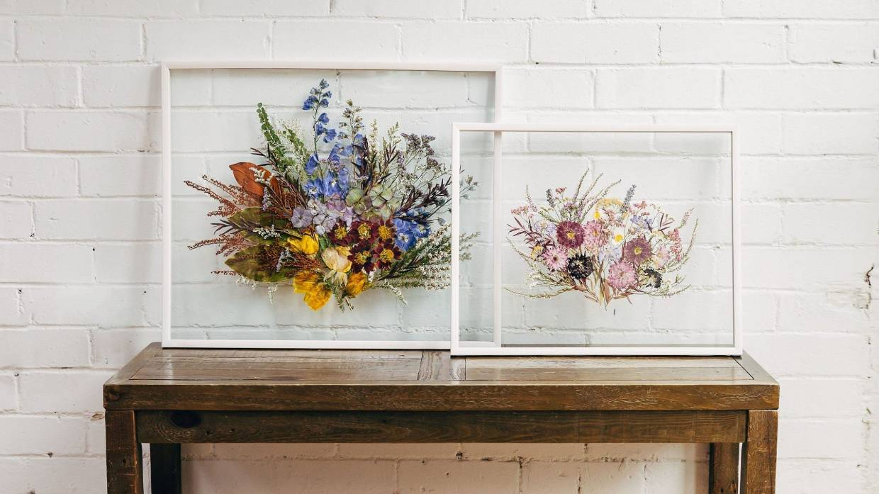 Pressed Floral Art Springs Life Back Into Dying Wedding Bouquets Stuff Co Nz