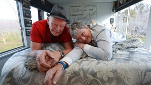 'We sold up to live on a bus'