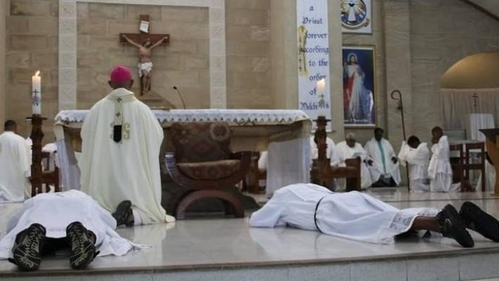 A mass to celebrate the ordination of priests