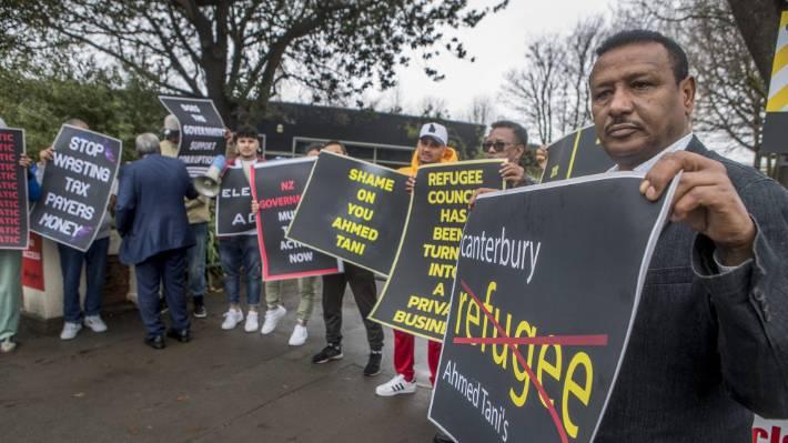 Christchurch Ethiopian Association chairman Haileslassie Berhe was amongst protesters.