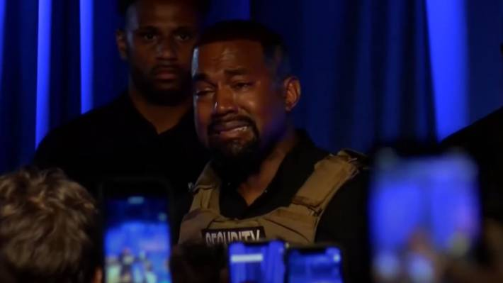 Emotional Kanye West Breaks Down In Tears During His First Us Presidential Campaign Stuff Co Nz
