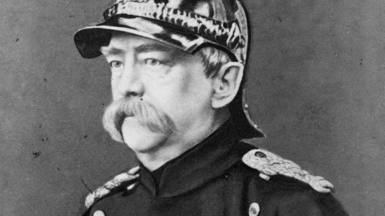The vast moustache of German statesman Otto von Bismarck has Joe Bennett thinking of sausages. — Photograph: London Steroscopic Company/Getty Images.