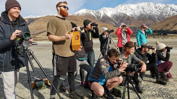 Otago University students have been working with DOC in the Mackenzie Basin to monitor black stilts.