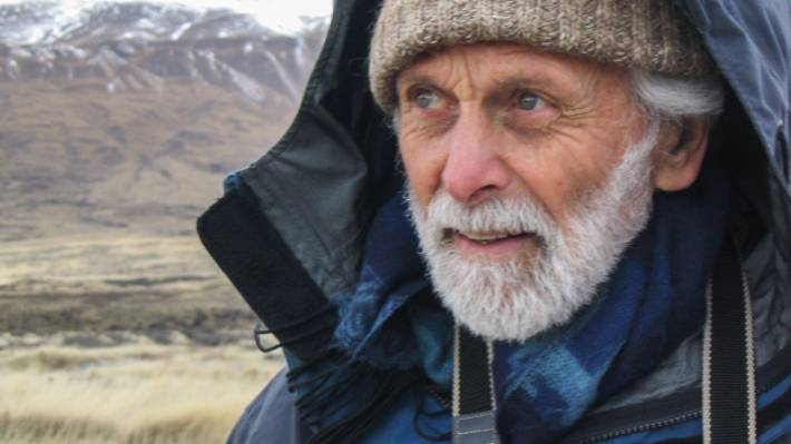 "Bill Moore at Lake Tekapo in 2005 ""seeing things most of us can't see"", according to son Hamish Moore."