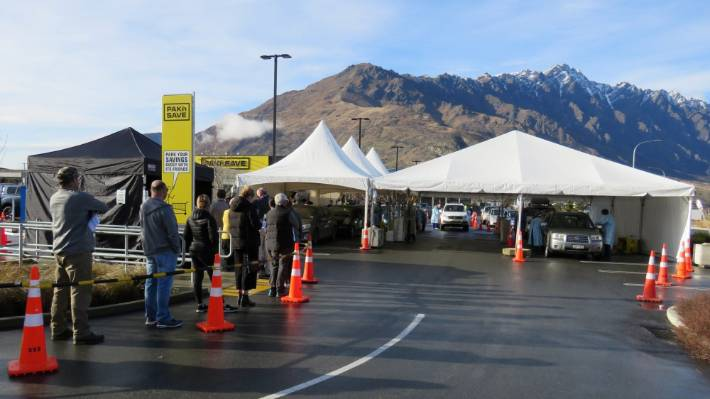 More than 1000 swabs were taken at a pop-up testing centre in Queenstown on Tuesday.