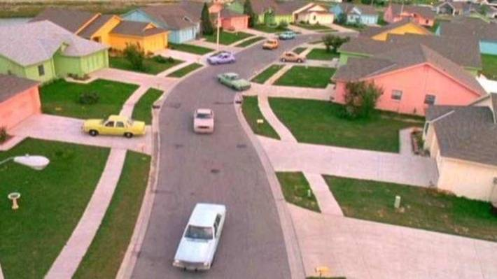 Suburbia is the real monster in Edward Scissorhands.