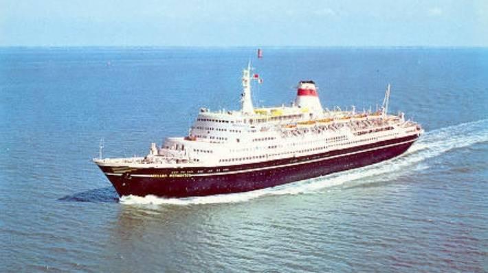 The Mikhail Lermontov was the pride of the Soviet cruise fleet.