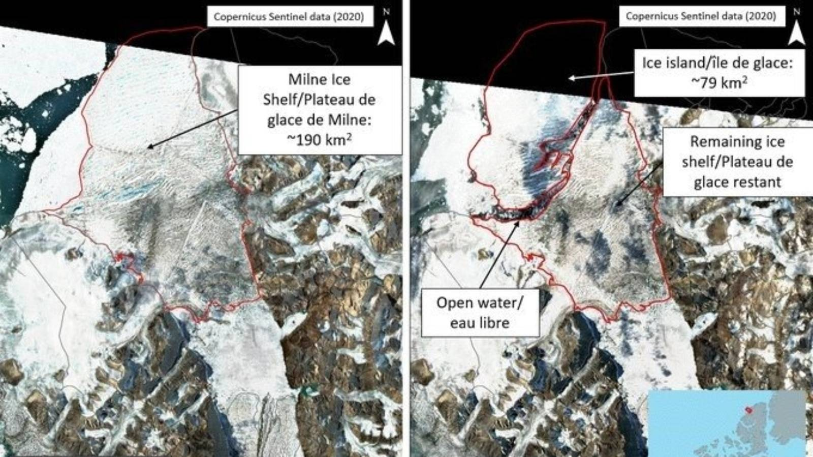 Canada's last intact ice shelf collapses due to warming