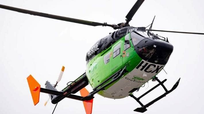 The Greenlea Rescue Helicopter flew a teenager to hospital after he burnt his feet and legs in a geothermal mud pool.