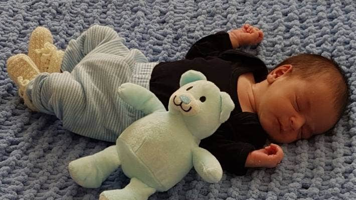 Baby Zayne was born hours before Auckland went into level 3 lockdown.