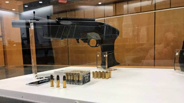 Bullets from a Ruger 1022 sawn-off semi-automatic rifle were found in the Tu'uheava's.
