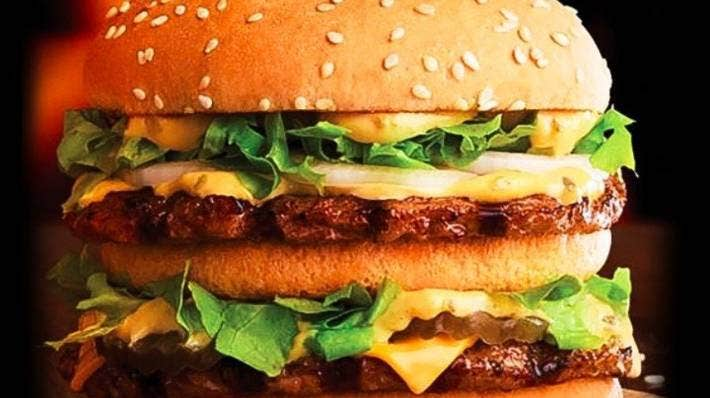 Hungry Jack's Big Jack burger.