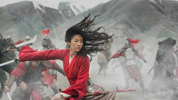 Liu Yifei as Mulan in the major Disney production that was filmed in the South Island, but not based in Christchurch.