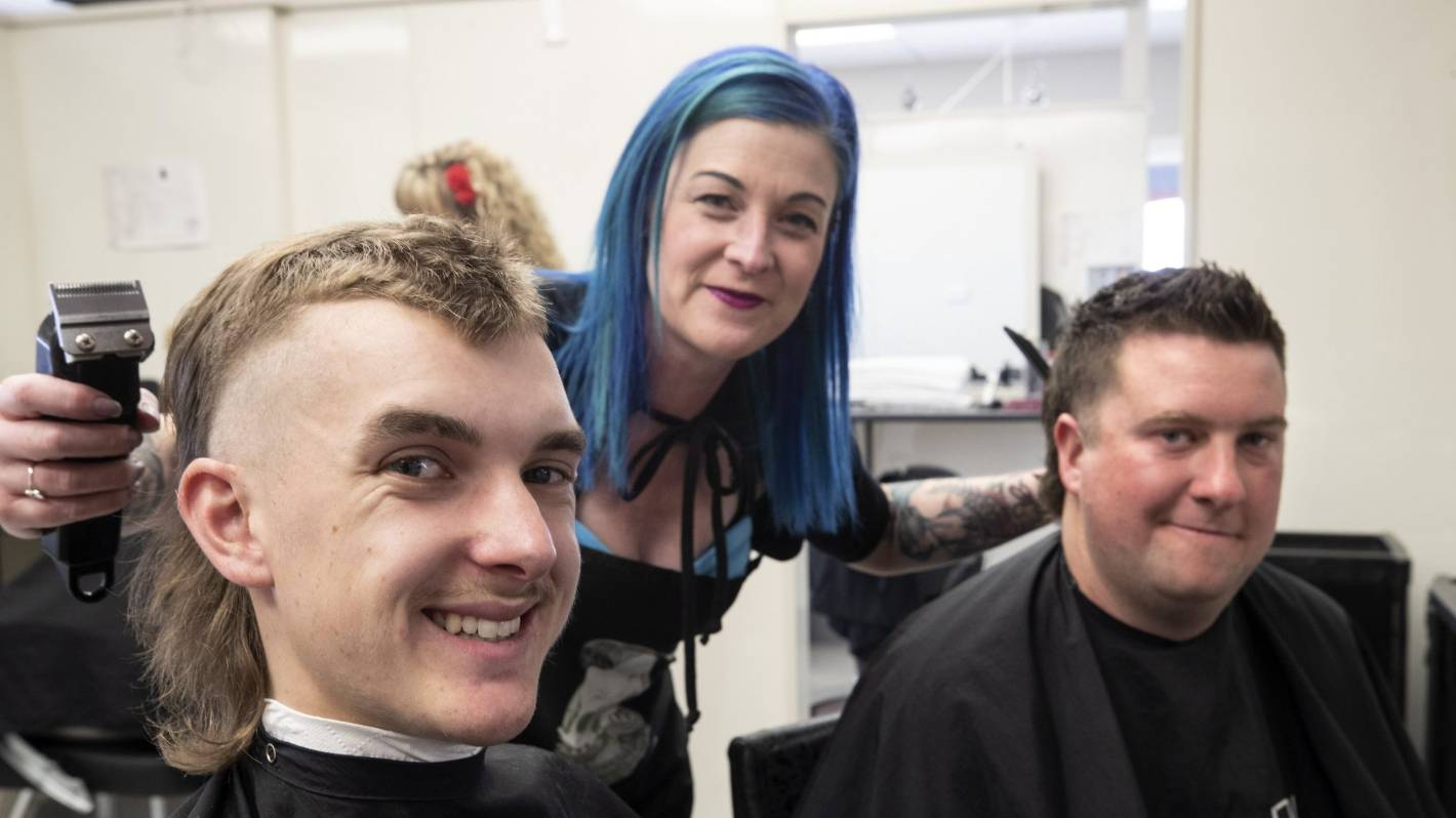 Mullets for mental health in Timaru