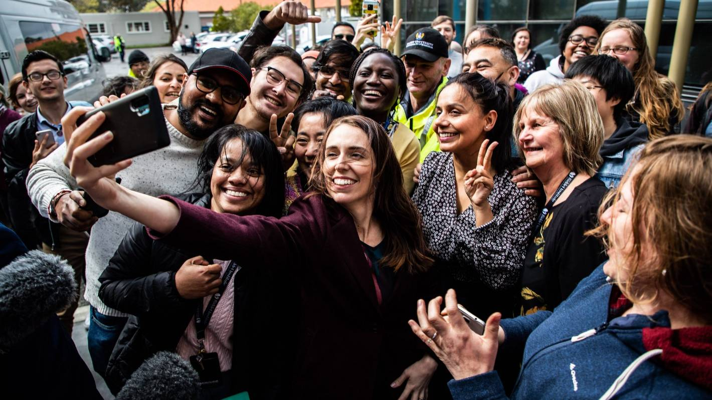 Election 2020: David Seymour criticises Jacinda Ardern's lack of social distancing in selfie while on the campaign trail