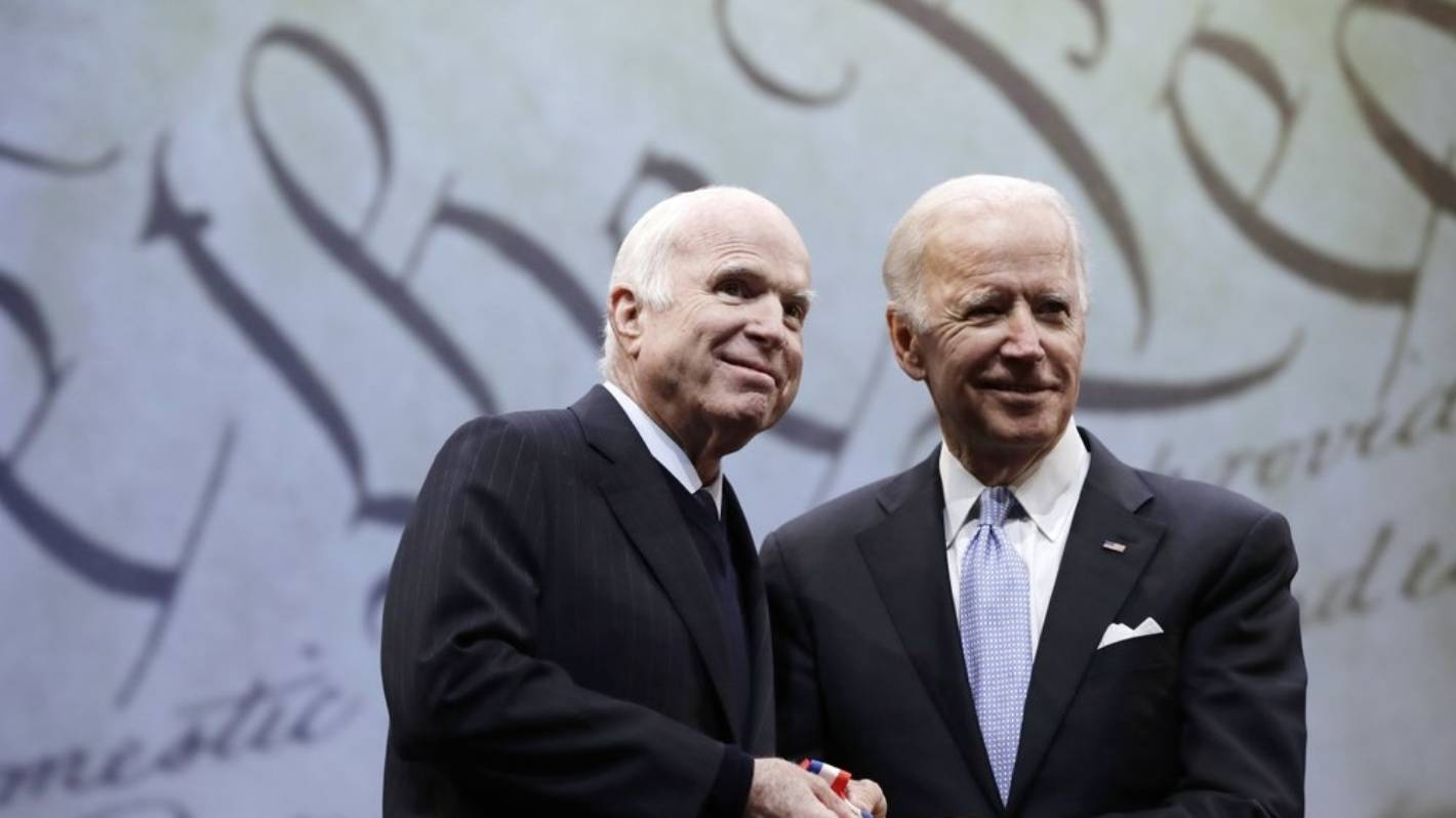 US Republican John McCain's widow Cindy endorses Biden for president in rebuke of Trump