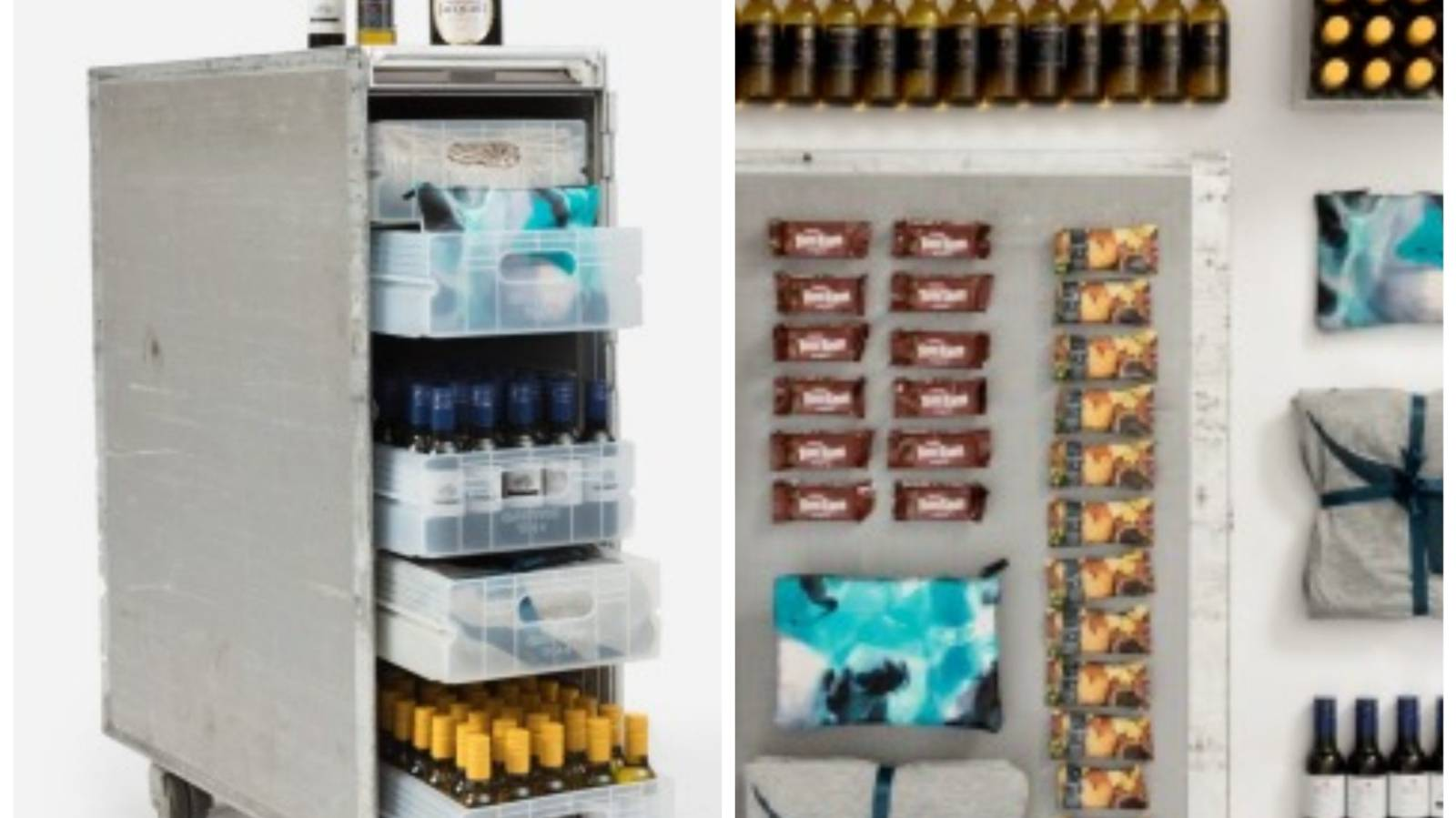 Get off your trolley! Qantas sells fully stocked drinks carts