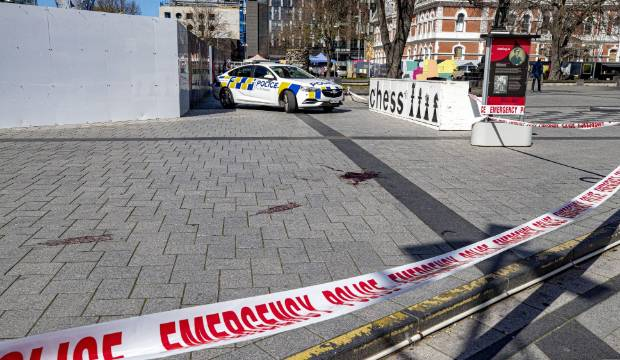 Pool of blood in Christchurch's Cathedral Square believed to be from scooter accident