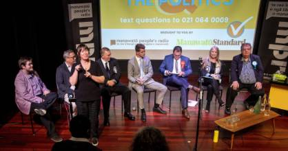 Palmerston North electorate candidates faced questions for two hours in front of a packed audience at the Globe Theatre ...
