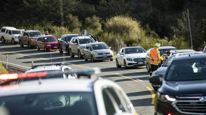State Highway 6 at the Whangamoa Saddle was closed for nearly six hours after the crash.