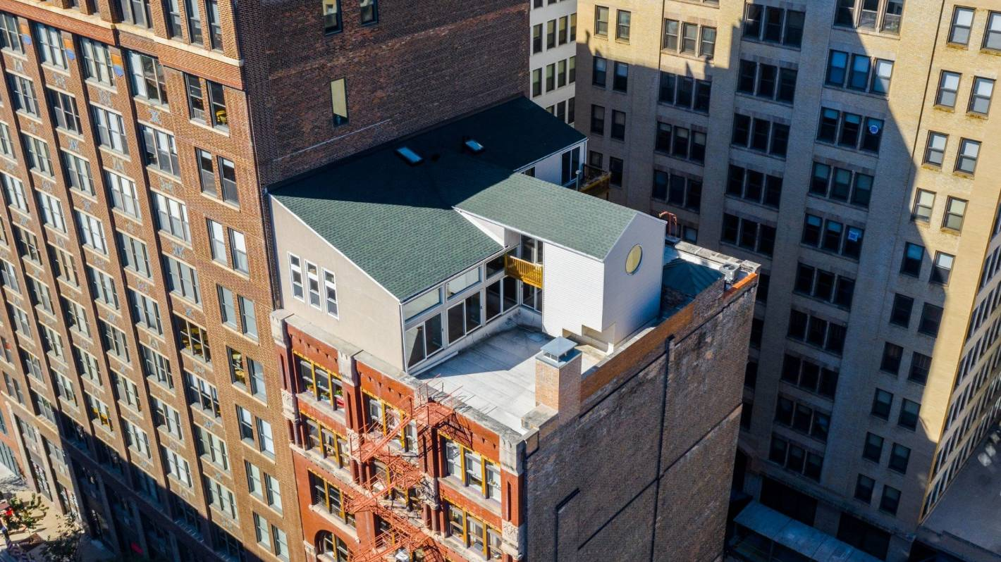 Chicago's 'house on the roof' of a 19th century printing factory is a penthouse with a difference