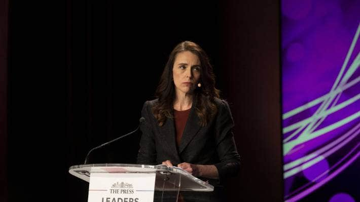 Labour leader Jacinda Ardern during The Press Leaders Debate on Tuesday night. Ardern said she supported fluoridation of drinking water.