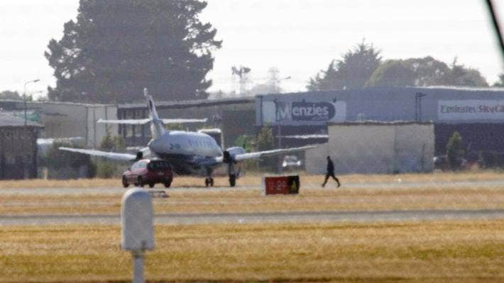 Air National Jetstream plane, which landed in Christchurch after being hijacked by Asha Abdille on February 8, 2008.