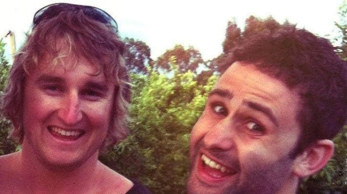 Best friends Josh Pyne, left, and Christopher Rosenberg.