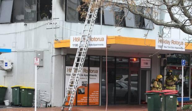 Five fire engines on scene of backpackers blaze in Rotorua