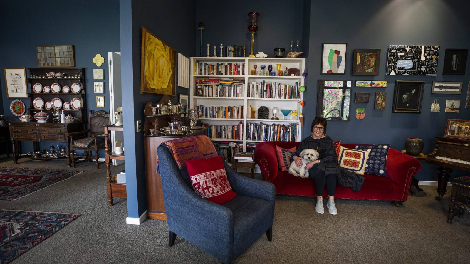 At home in a rebuilt streamside home in Christchurch