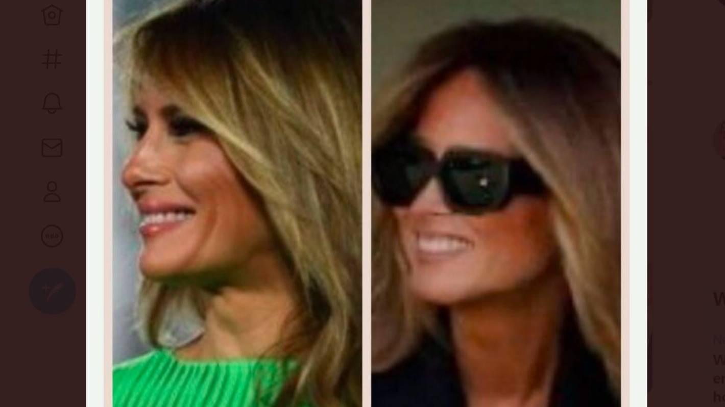 That ain't her': New photo of Melania Trump ignites Fake Melania body  double conspiracy theory again | Stuff.co.nz