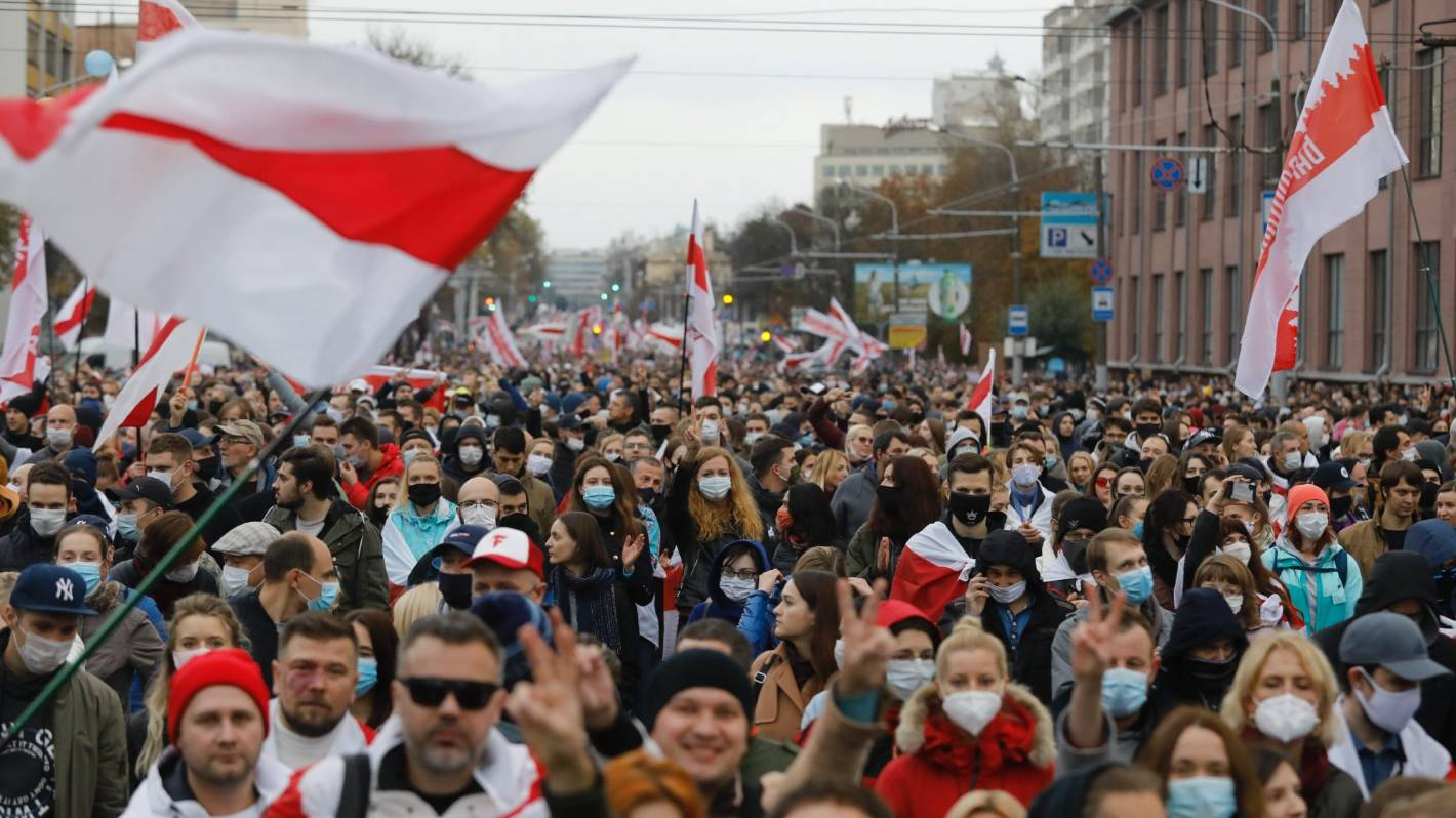 Thousands protest in Belarus as demands deadline approaches