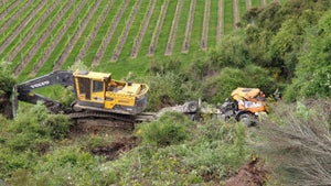 Truck carrying 25-tonne digger rolls 'probably 60 metres' down bank in Marlborough