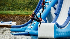 Large-scale inflatable water park opening in Central Otago
