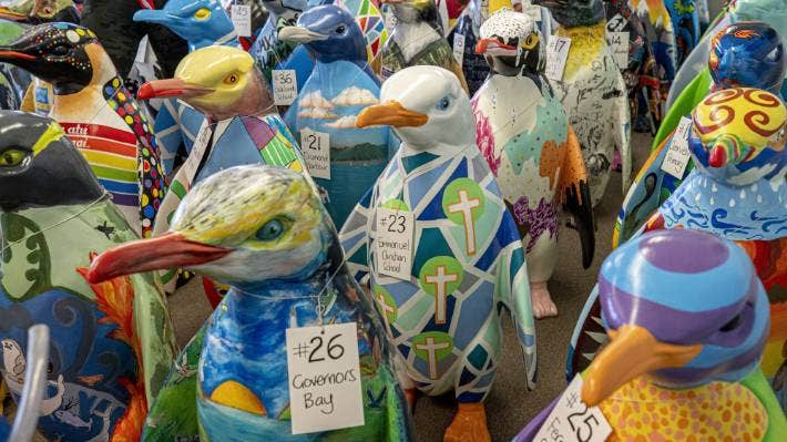 The Pop up Penguins auction in Christchurch on Wednesday raised just over $1 million.