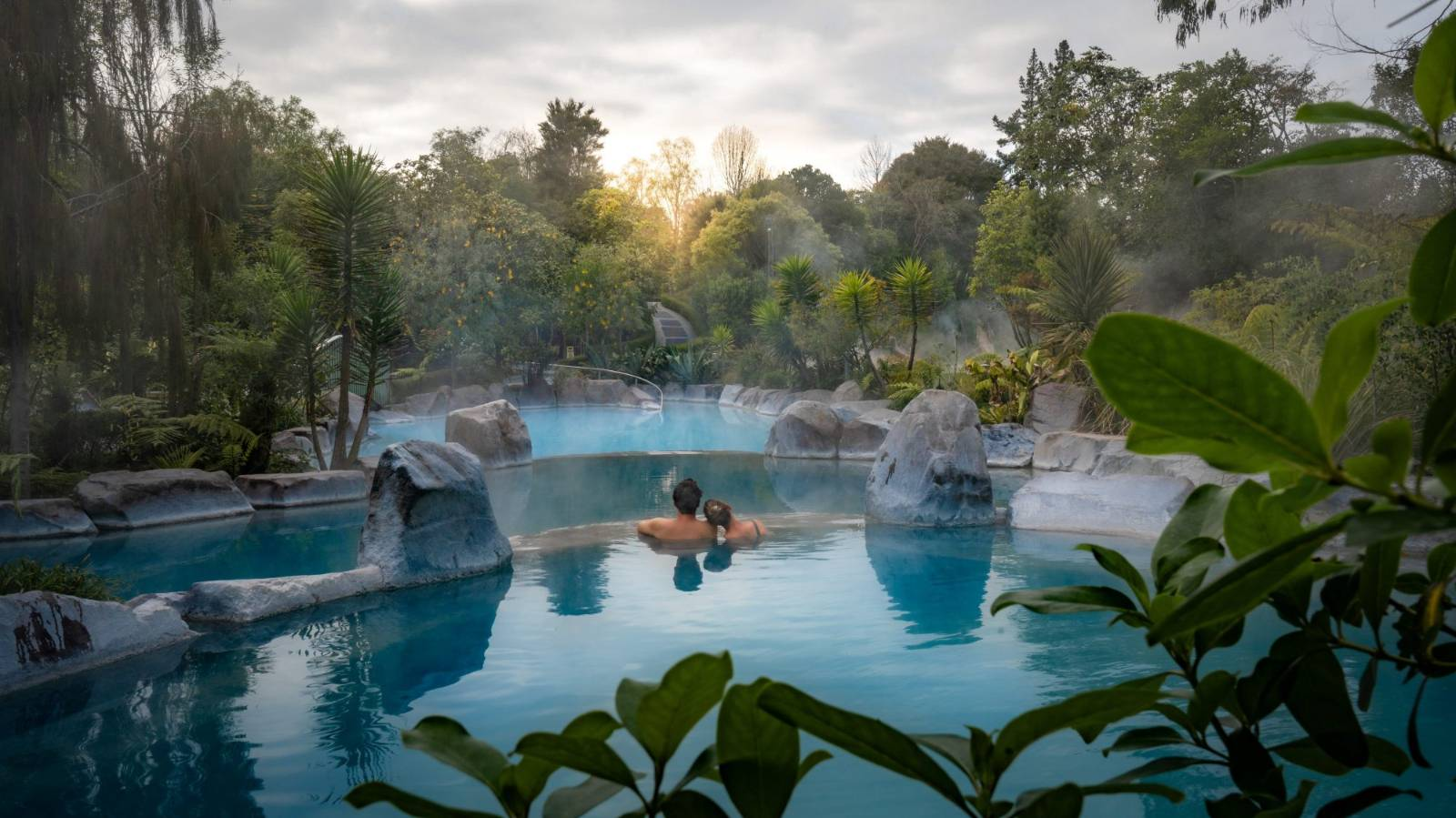 Inside NZ's hidden hot spring heated by a geyser