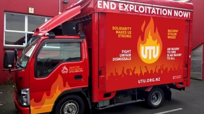 The UTU truck is ready to roll out.