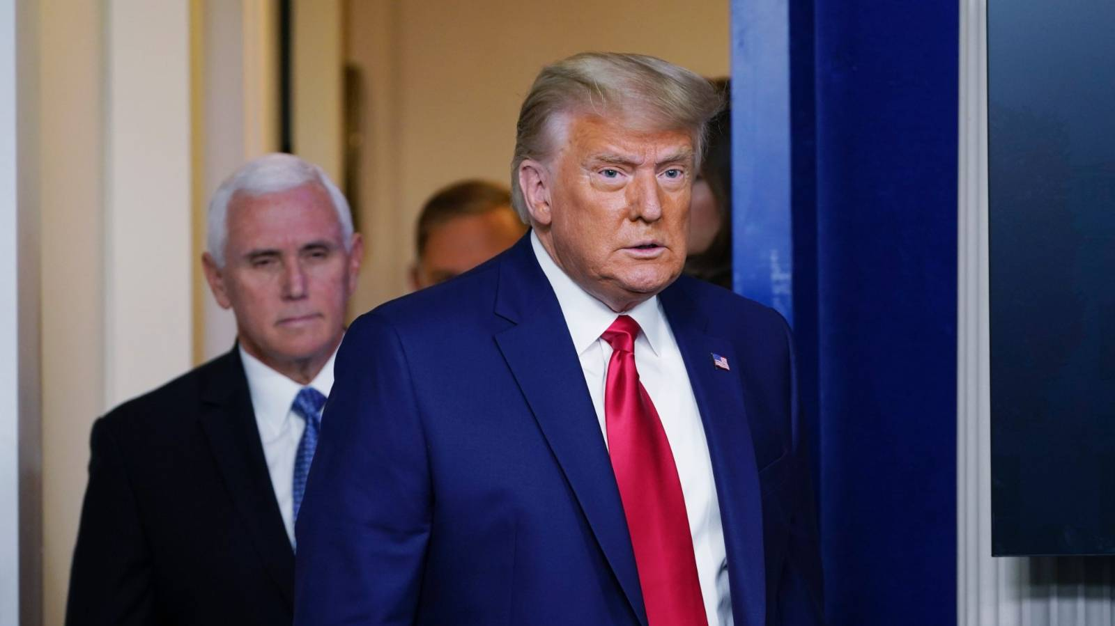 Trump steps out of the White House and into a company in crisis