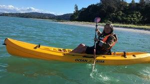 The joys of kayaking on Ōhiwa Harbour