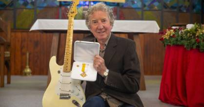 Bill McElhinney, pictured, and Mike Cullimore have been playing music at most St Mary's Sunday masses for over 30 years.