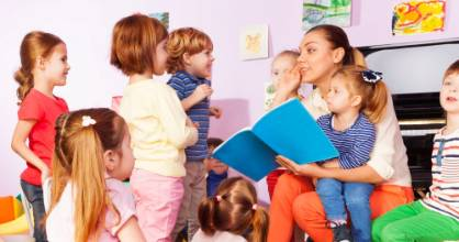 Conversations with kindergarten children are being recorded every six months, for two years, to study literacy ...