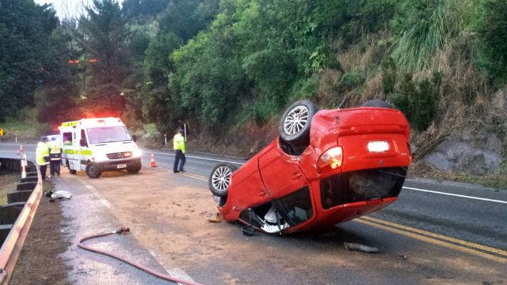 This 2014 crash in the Dome Valley resulted in no injuries, but the road is notorious for crashes. (File photo)