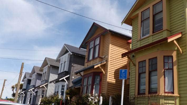 Historic homes in Dunedin's Adam St.