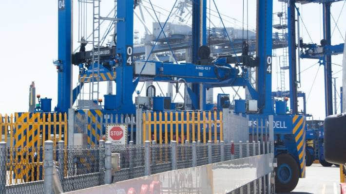Major import gateway Ports of Auckland is in the process of replacing its manned straddle cranes with automated ones. The project was unable to be finished because of lockdown, but the port hopes to complete it in a few months.