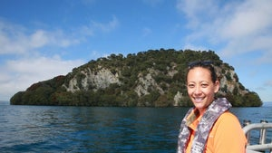 The sacred island in the middle of Lake Taupō