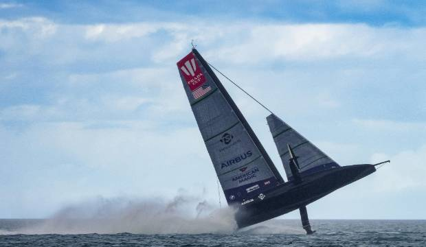 America's Cup: American Magic boat seriously damaged in dramatic capsize