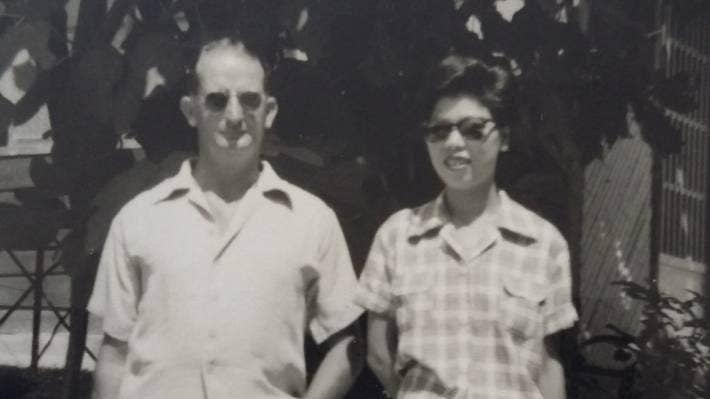 Mick and Setsuko Donnelly on holiday in Yotsugi, Japan, in 1955.